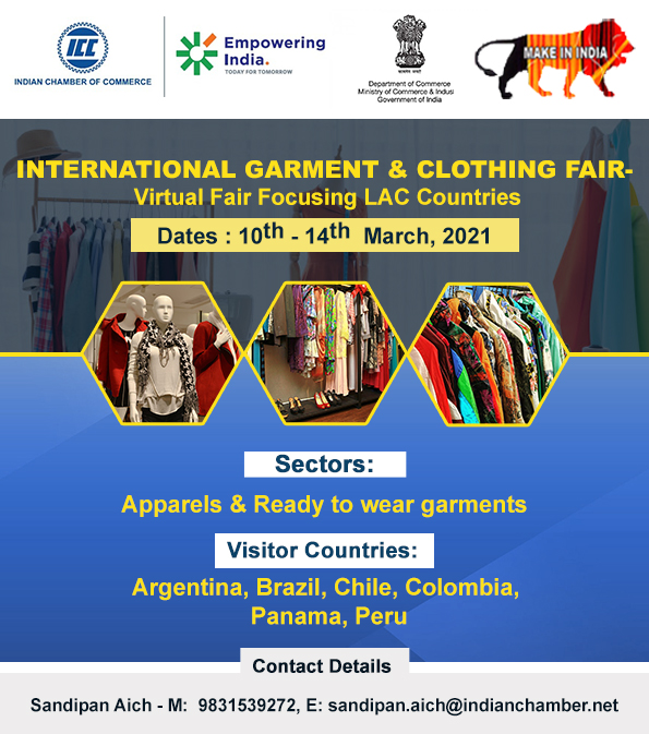 International Garment & Clothing Fair, 10-14 March 2021