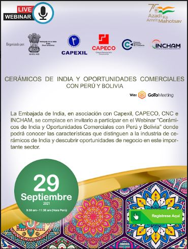 Event: Indian Ceramics & Business Opportunities with Peru & Bolivia